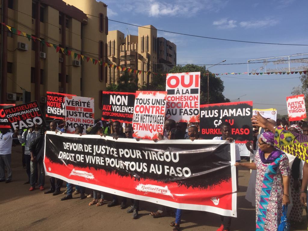 Massacre de Yirgou : Des milliers de burkinabè appellent à l'unité contre la stigmatisation