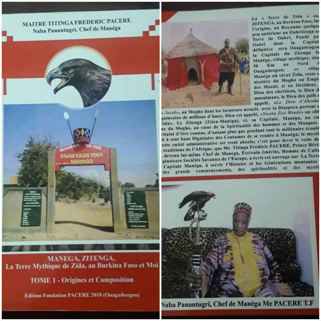 LITTERATURE BURKINABE : « MANEGA, ZITENGA, La Terre Mythique de Zida au Burkina Faso et Moi » (de Me Titenga Frédéric Pacéré)