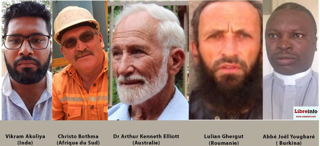 Otages au Sahel :Akoliya, Bothma, Elliott, Ghergut et Yougbaré, à quand la libération ?