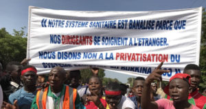 Photo des manifestants à Bobo Dioulasso, le 25 octobre 2019
