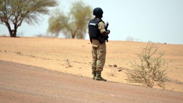 Image d'archives d'un gendarme burkinabè
