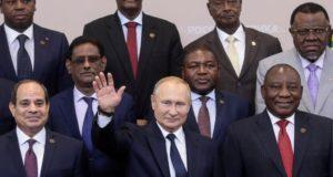 Vladmir Poutine et des dirigeants africains à Sotchi