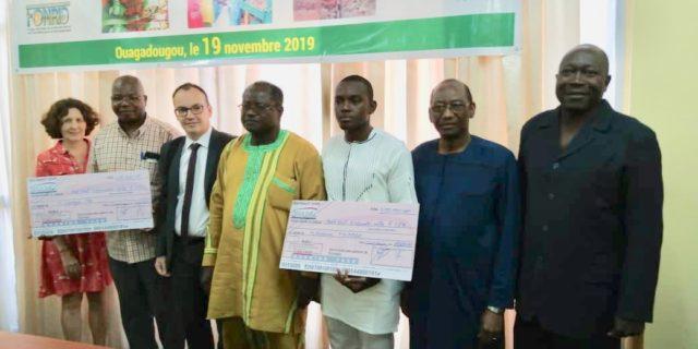 Photo des lauréats,Docteurs Vinsoum Millogo et Georges Ye