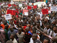 Photo d'illustration des manifestants contre les forces étrangères au Mali