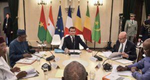 Le President Macron et ses homologues du G5 Sahel
