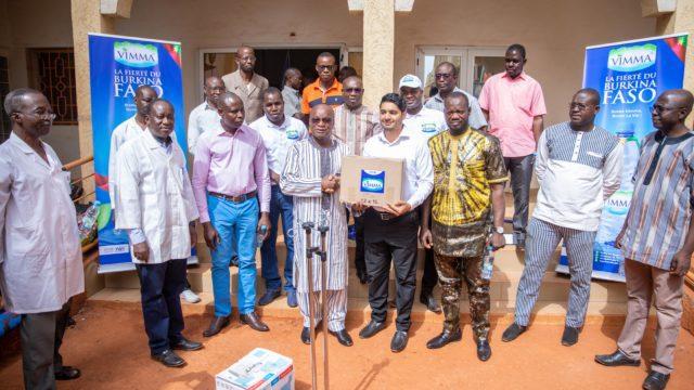 VIMMA Eau Minérale Naturelle, Ici don de matériels et de produits médicaux au CHUSS de Bobo-Dioulasso