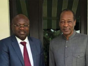 Eddie Komboigo avec l'ancien president du Burkina Blaise Compaoré