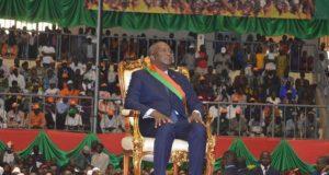 Le Président Kabore lors de son investiture le 29 décembre 2015