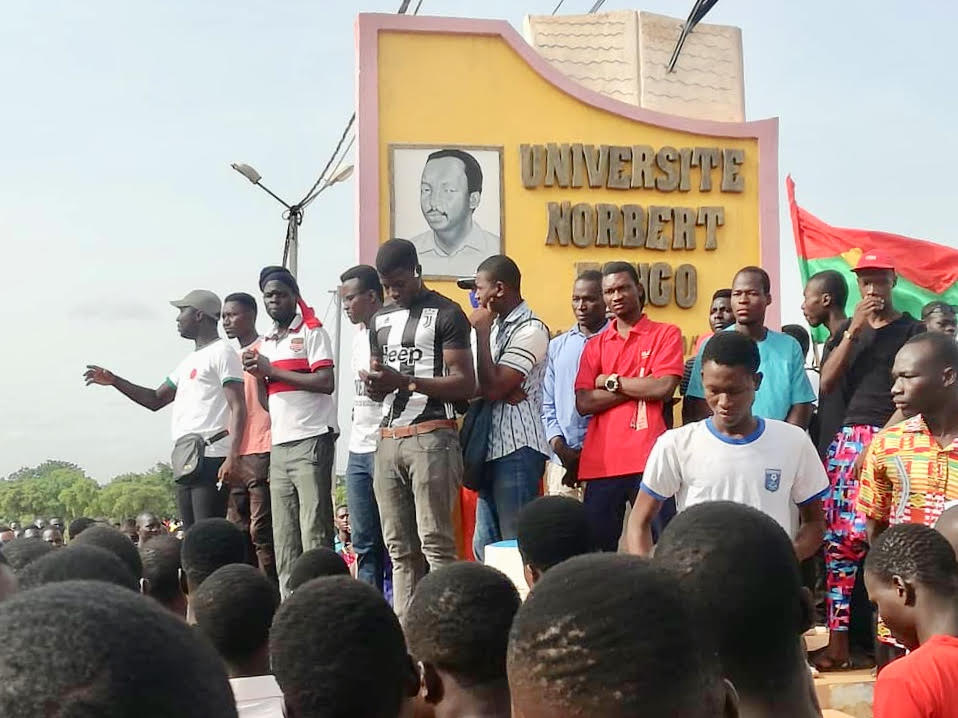 Koudougou IUTS: forte mobilisation des étudiants de l'université Norbert Zongo contre l'arrêt des activités pédagogiques