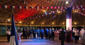 Photo des convives de la soirée du 14 juillet à la residence de France à Ouagadougou,Ph. Ambassade de France