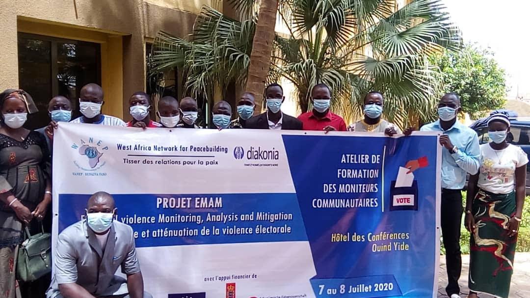 Wanep Burkina : 65 moniteurs formés en alerte précoce pour contribuer à une élection apaisée en 2020