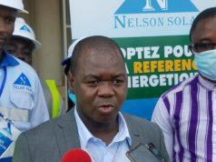 Le président directeur général de la société Nelson Solar, Jean Joël Kaboré inaugure l'agence annexe de la société à Bobo-Dioulasso-Libre info