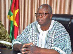 Le ministre d'Etat, ministre de l'Administration territoriale, de la Décentralisation et de la Cohésion sociale, Siméon Sawadogo
