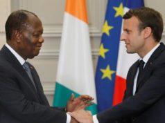 Rencontre entre le Président Alassane Ouattara et son homologue français Emmanuel Macron