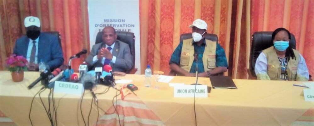 Burkina élections: les chefs de missions d'observation de la CEDEAO et de l'UA font le bilan