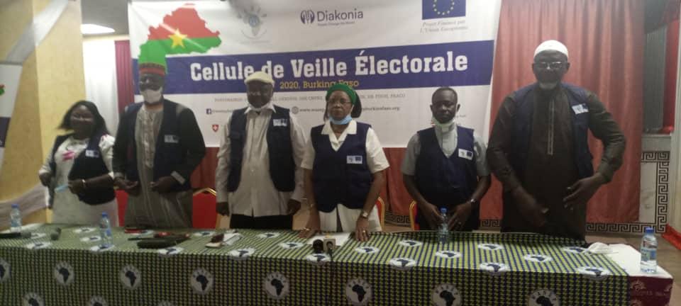 Membres de la cellule de veille électorale de WANEP,libre info