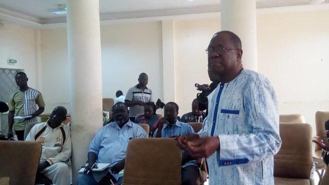 Le professeur Idrissa Ouédraogo, directeur de programme de campagne de l'UPC