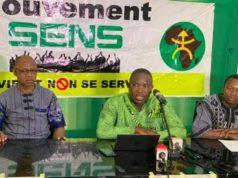 Me Guy Hervé Kam en vert au Milieu,Coordinateur national du Mouvement SENS