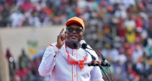 Roch Kabore, candidat du MPP au stade Général Sangoulé Lamizana à Bobo Dioulasso
