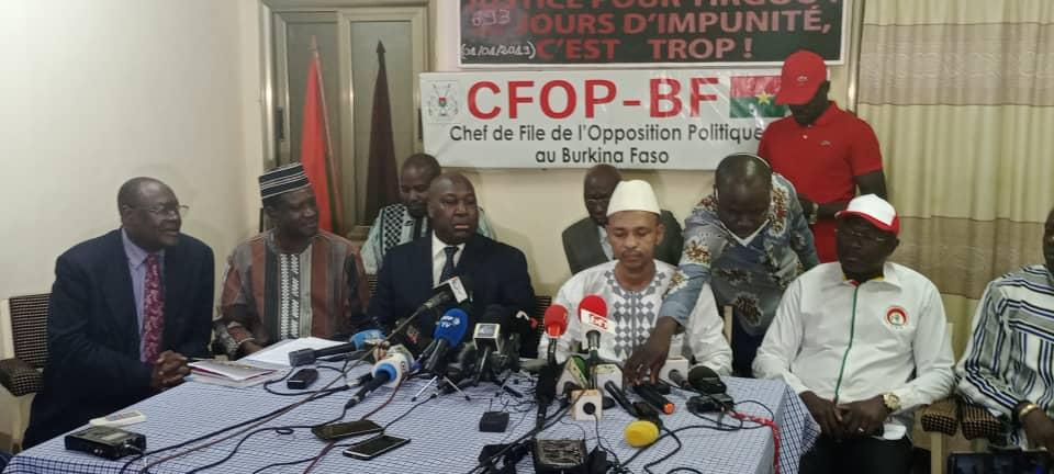 L'opposition politique burkinabè,conférence de presse du 23 novembre 2020,Libre info