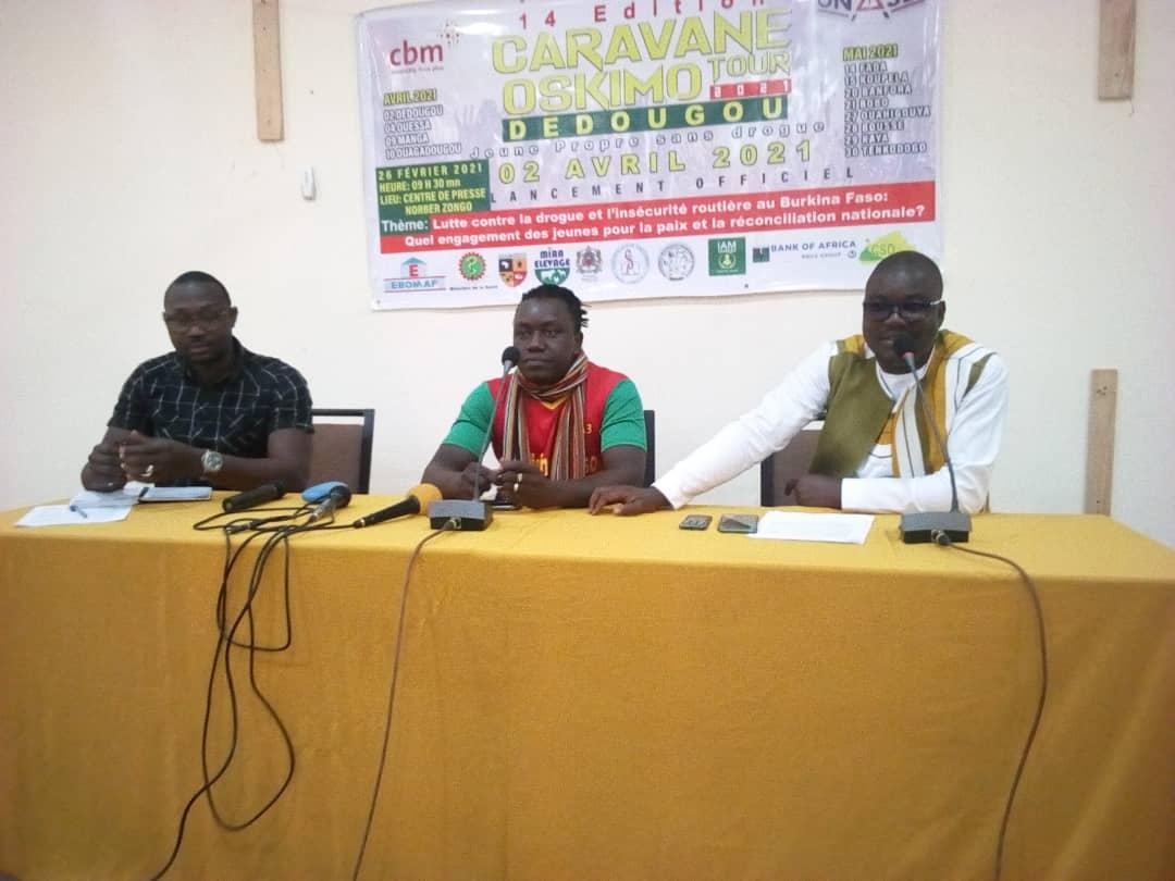 Drogue et insécurité: la caravane Oskimo Tour va menerla sensibilisation dans plusieurs régions du Burkina