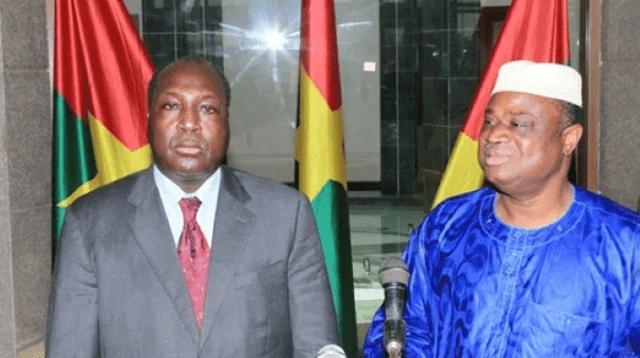 Zephirin Diabre l'ancien chef de file de l'opposition politique (gauche) avec l'ancien secrétaire exécutif du CDP Assimi Kouanda avant l'insurrection des 30 et 31 octobre 2014